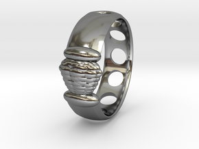 Alien Egg Ring Delta SIZE10 in Premium Silver