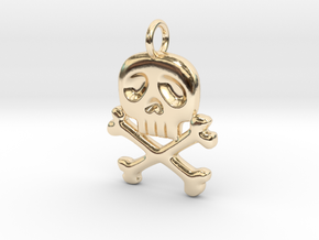 Space Captain Harlock | Pendant in 14k Gold Plated Brass