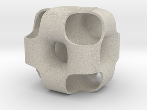 Ported Cube in Natural Sandstone