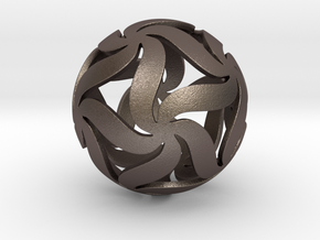 Star Ball Floral in Polished Bronzed Silver Steel