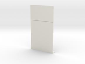 Blank Wall; Half in White Natural Versatile Plastic