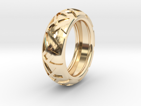 Shapes Ring19.6 in 14k Gold Plated Brass