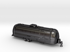 N Gauge - Classic American Trailer in Polished and Bronzed Black Steel
