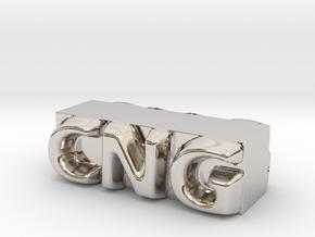 CNG Pendant in Platinum
