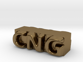 CNG Pendant in Polished Bronze