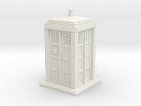 TT Gauge - Police Box in White Strong & Flexible