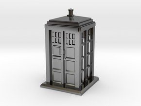 HO/OO Gauge - Police Box in Fine Detail Polished Silver