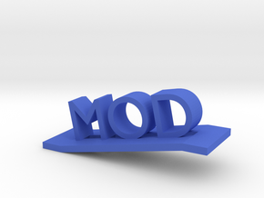 Modlogo8 in Blue Processed Versatile Plastic