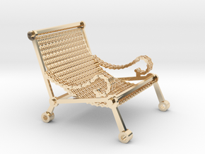 1:12 scale miniature industrial art chair in 14K Yellow Gold