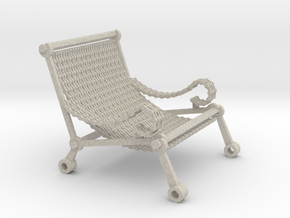 1:12 scale miniature industrial art chair in Natural Sandstone