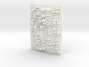Large Desktop Cityscape in White Processed Versatile Plastic