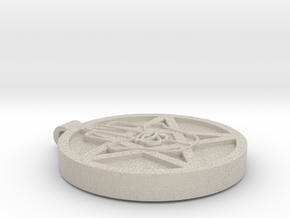 The Signet of the Five in Natural Sandstone