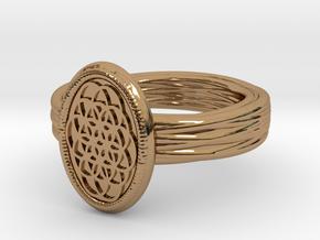 Lering Shamballah alfa in Polished Brass