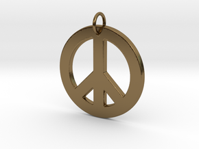 Peace Sign in Polished Bronze
