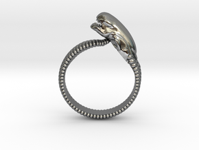 ChestBursterRing Beta SIZE10 in Fine Detail Polished Silver
