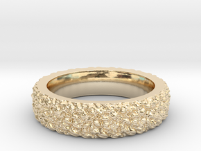 Rugged Beauty Size-8 in 14k Gold Plated Brass