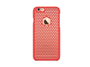iPhone 6 case_ Hexagons in Red Strong & Flexible Polished