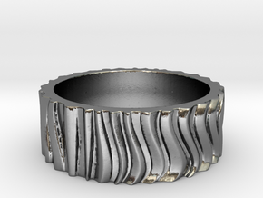 CurvedForrest Ring Size 10.5 in Polished Silver