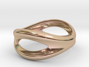 Bracelet Mouth 65 in 14k Rose Gold Plated Brass