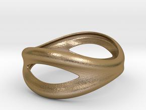 Bracelet Mouth 65 in Polished Gold Steel
