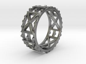 Zahnradkreuzchen Ring Size 11.5 in Natural Silver