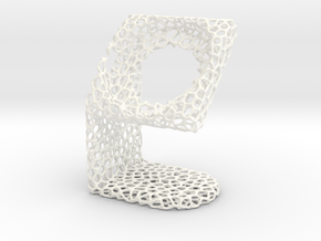 LG SmartWatch  Voronoi Desktopstand in White Strong & Flexible Polished