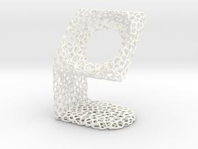 LG SmartWatch  Voronoi Desktopstand in White Processed Versatile Plastic