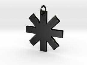 Creator Pendant in Matte Black Steel