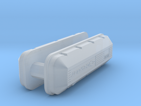 1/32 BBC 502 Logo Valve Covers in Smooth Fine Detail Plastic