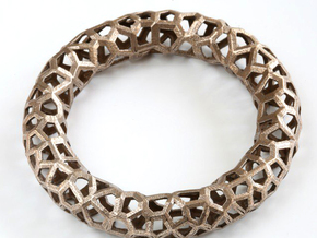 Bracelet OXO  in Polished Bronzed Silver Steel