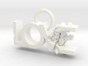Broken Love in White Processed Versatile Plastic