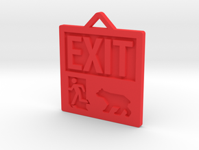 Exit Pursued By Bear in Red Strong & Flexible Polished