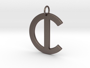 C in Polished Bronzed Silver Steel