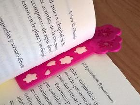 Sakura Bookmark Model A in Pink Processed Versatile Plastic