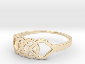 Size 6 Knot C1 in 14k Gold Plated Brass