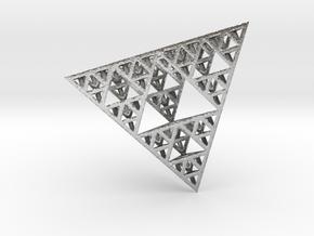 Sierpinski Tetrahedron in Natural Silver