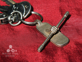 Staff Pendant in Stainless Steel