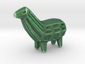 Llama Sculpture in Gloss Oribe Green Porcelain