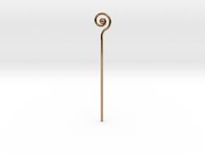 Spiral Staff in Polished Brass