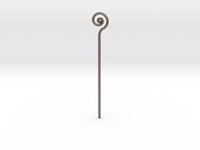 Spiral Staff in Polished Bronzed Silver Steel