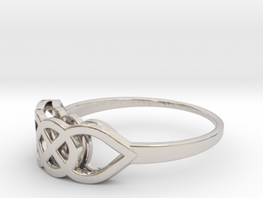 Size 6 Knot C2 in Rhodium Plated Brass