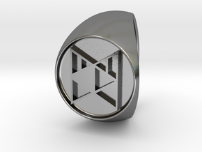 Custom Signet Ring 16 in Polished Silver