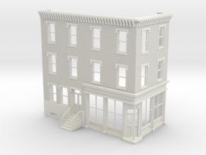 Philadelphia corner store 3 stories Front Reverse  in White Natural Versatile Plastic
