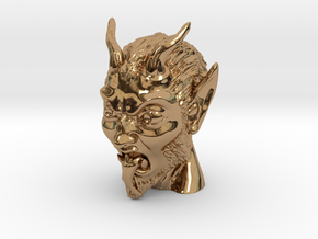 Krampus the Christmas Demon in Polished Brass