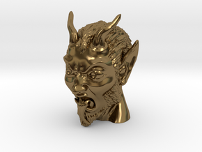 Krampus the Christmas Demon in Polished Bronze