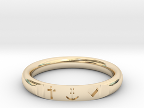 Faith Hope Love in 14k Gold Plated Brass