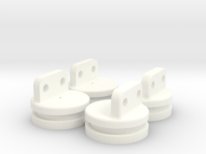 Air Bag Upper Mount Set in White Strong & Flexible Polished