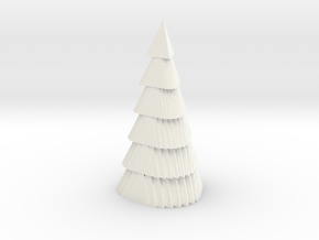 Christmas tree in White Processed Versatile Plastic