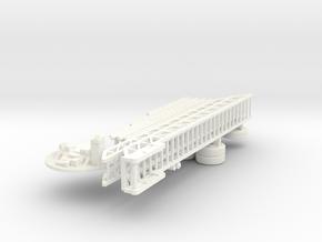 1/87 ALF American La France Tiller Parts (Updated  in White Processed Versatile Plastic