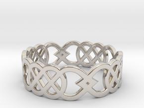 Size 9 Knot C3 in Platinum